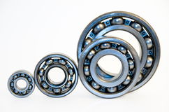 Four bearings. Of the different size isolated on white Stock Photography
