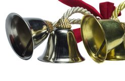 Four beautiful bells. Four christmas beutiful bells on white background stock images