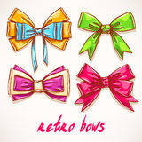 Four beautiful colorful bows Royalty Free Stock Image