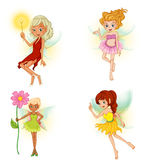 Four beautiful fairies. Illustration of the four beautiful fairies on a white background Royalty Free Stock Image