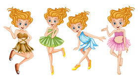 Four beautiful fairies smiling Royalty Free Stock Image