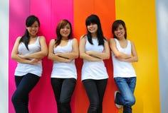 Four Beautiful Girlfriends Stock Photo