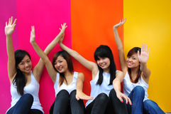Four Beautiful Girlfriends Stock Images