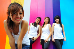Four Beautiful Girlfriends Royalty Free Stock Images