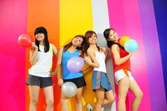 Four Beautiful Girlfriends Royalty Free Stock Photo