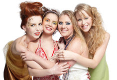 Four beautiful girls Royalty Free Stock Photography