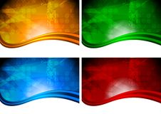 Four beautiful vibrant backdrops Stock Image