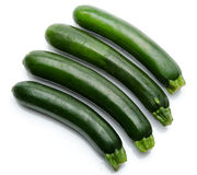Four beautiful zucchini Stock Image