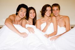 Four In A Bed Stock Photos