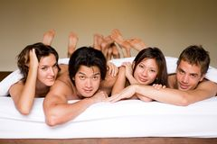 Four In A Bed stock photography