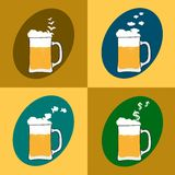 Four beers Stock Images