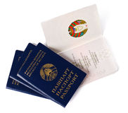 Four belarusian passports Stock Image