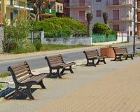 Four benches Royalty Free Stock Photos