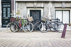 Four bicycles in Amsterdam Royalty Free Stock Images