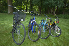 Four bicycles Stock Image