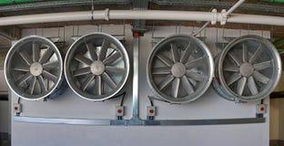Hvac. Four big air ventilation fans for hvac Stock Image