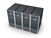 Four big server Royalty Free Stock Photography