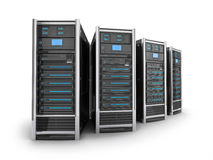 Four big server Stock Photography