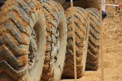Four big tires on a truck Royalty Free Stock Photography