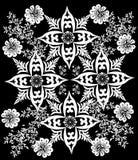 Four big white flower pattern Royalty Free Stock Photo