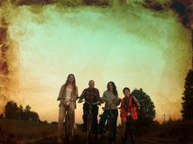 Four bikers Royalty Free Stock Photos