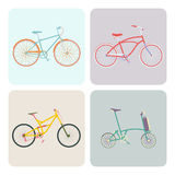 Four bikes Stock Photos