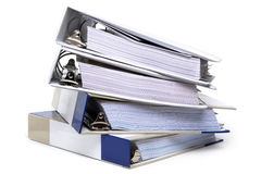 Four Binders Stock Photo