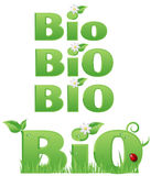 Four Bio signs stock illustration