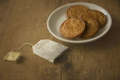 cookies biscuits and tea royalty free stock photography