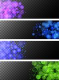Four black background with blue and green lights. Illustration Royalty Free Stock Photo