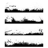 Four black frames blot Royalty Free Stock Images