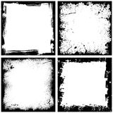 Four black frames Royalty Free Stock Image
