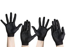 Black hands Royalty Free Stock Photo