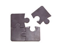 Four black puzzle Royalty Free Stock Images