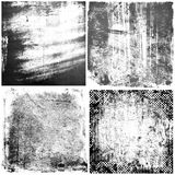 Black and white grunge textures backgrounds. Four black and white grunge textures for your designn royalty free illustration