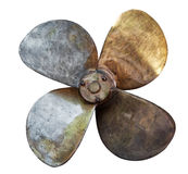 Four bladed boat propeller Royalty Free Stock Photo