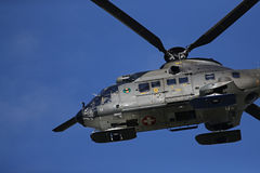 Four bladed Eurocopter AS332, now Airbus Helicopters H215 taking off Stock Photography