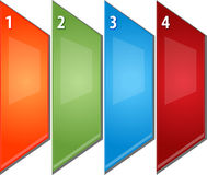 Four Blank business diagram perspective panels illustration Royalty Free Stock Image