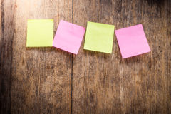 Four blank colorful sticky notes Royalty Free Stock Photography