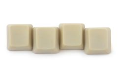 Four blank computer buttons Stock Image