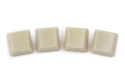 Four blank computer buttons Stock Photo