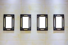 Four Blank Frames Advertisement stock photos