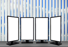Four blank monitor Stock Photo