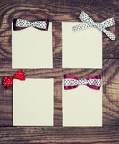 Four blank paper sheets Royalty Free Stock Photos