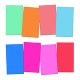 Four Blank Paper Slips Show Copyspace For 4 Letter Words Royalty Free Stock Images
