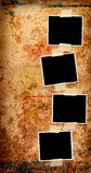 Four blank photos. On a grungy wooden background Royalty Free Stock Photo