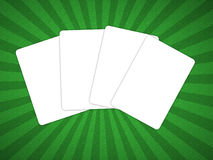 Four blank playing cards Stock Photos