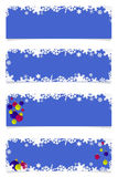 Four blue christmas headers Stock Photo