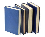 Four blue old  books Royalty Free Stock Image