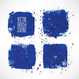 Four blue stroke backgrounds Royalty Free Stock Image